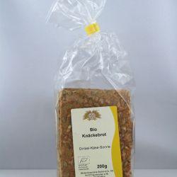 Knäckebrot mit Käse und Sonnenblumenkernen